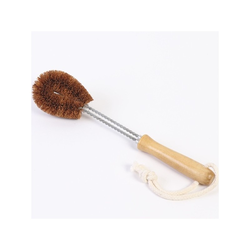 this 100 coconut fibre kitchen brush is ethically handmade in sri lanka using biodegradable environmentally friendly and natural fibres - Kitchen Brush