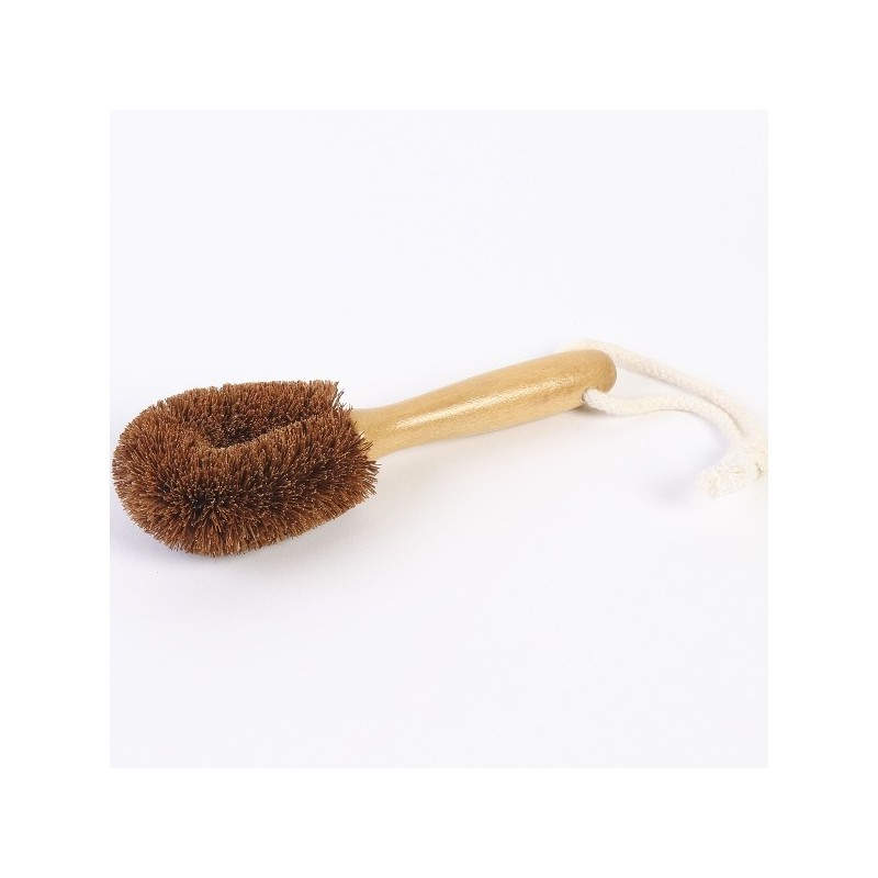 EcoMax Coconut Fibre Vegie Brush with Handle