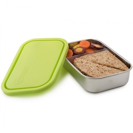 U Konserve Rectangle Container with Divider - Lime