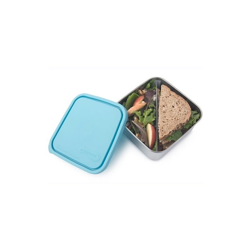 U Konserve To-Go Square Container with Divider 50oz/1.5L Large - Sky