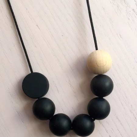 Tiny Teethers Adult Necklace - Winter Black