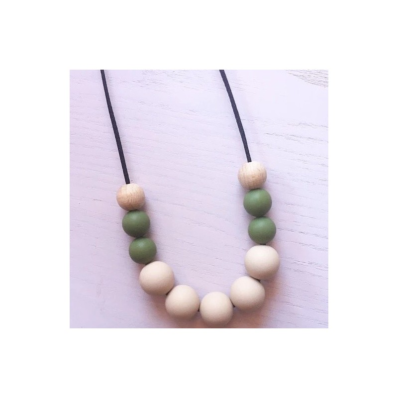 Tiny Teethers Adult Necklace - Olive