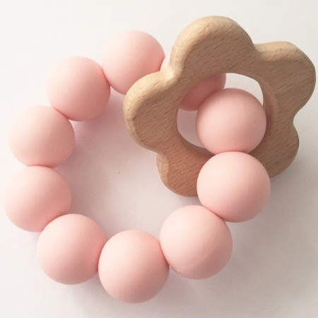 Tiny Teethers Daisy Teether - Pink