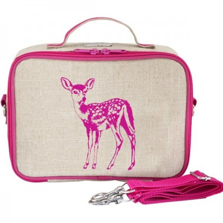 SoYoung Raw Linen Insulated Lunch Box - Pink Fawn