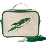 SoYoung Insulated Lunch Box Raw Linen - Green Rocket