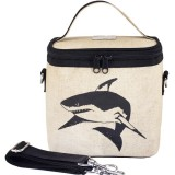 SoYoung small insulated cooler bag - Black Shark raw linen