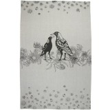 The Linen Press Australian Magpie Organic Cotton Tea Towel
