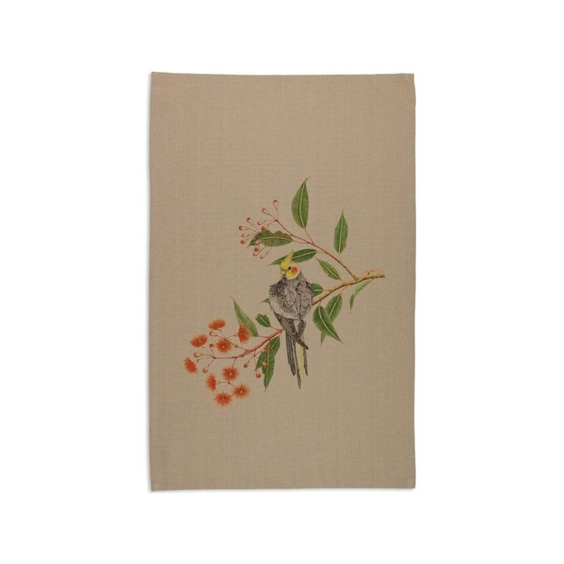 Ordinaire This Organic Cotton Tea Towel Features The Cockatiel And Gum Blossoms On A  Beige Background. Artwork Designed In Australia By Local Artist Meg Cole  And ...