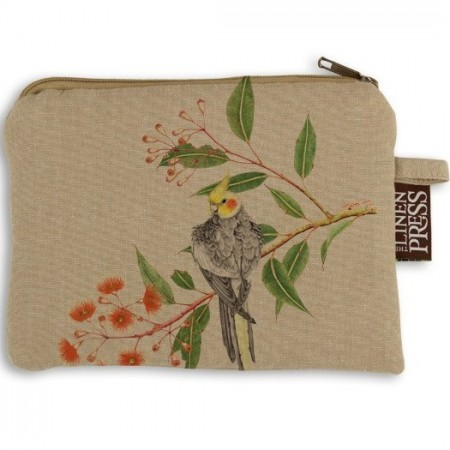 The Linen Press Organic Cotton Large Purse - Cockatiel
