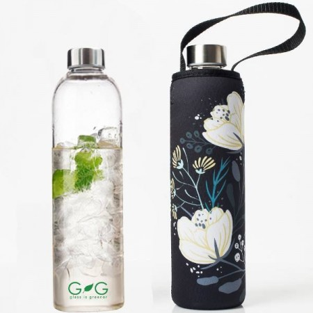 BBBYO Glass Water Bottle and Cover - Orient 750ml