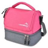 LunchBots Insulated Two Level Bag Pink