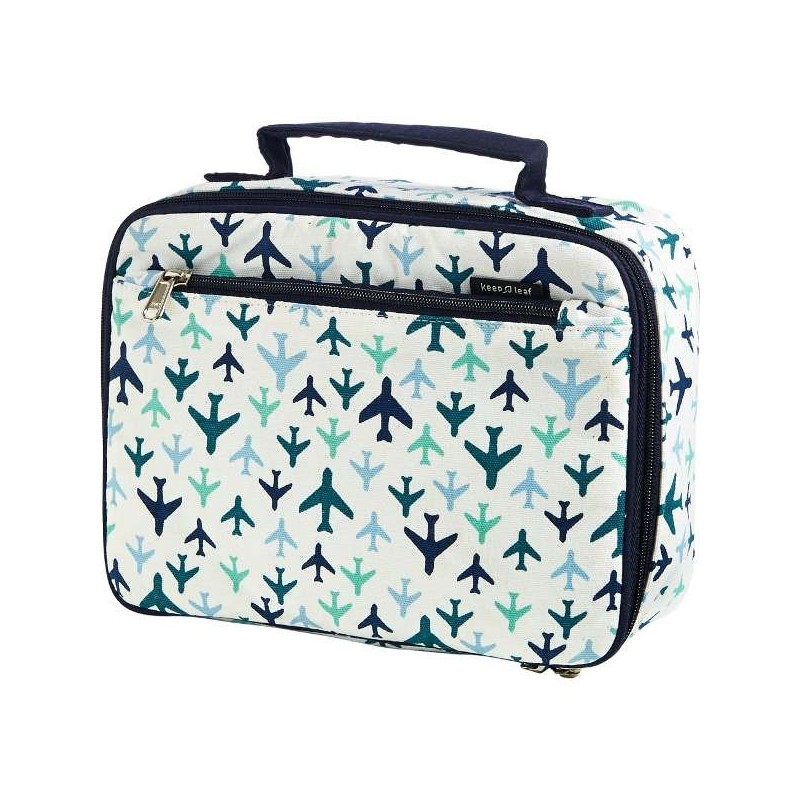 Keep Leaf Insulated Organic Lunch Box - Planes