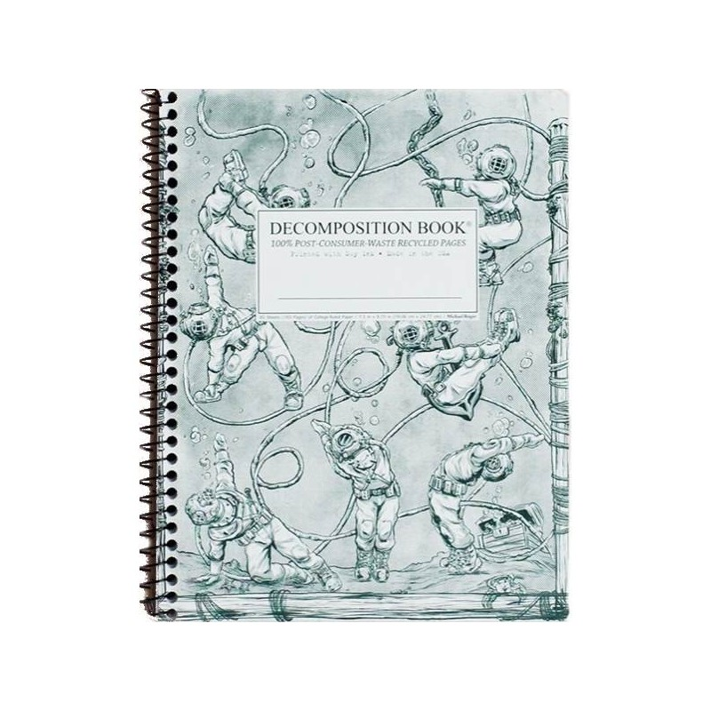 Decomposition Large Spiral Notebook (Lined) - Deep Stretch