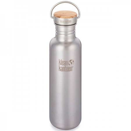 Klean Kanteen classic 27oz 800ml Stainless Steel Water Bottle - bamboo reflect brushed