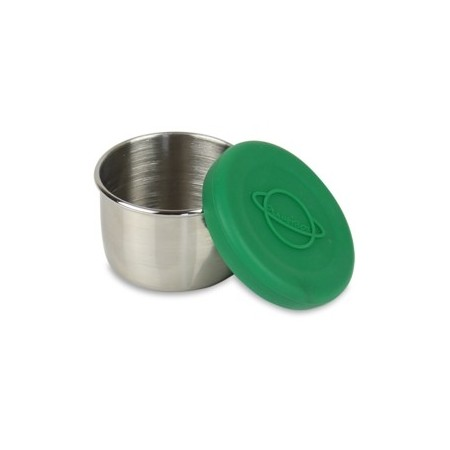 Planetbox Little Round Dipper With Green Silicone Lid