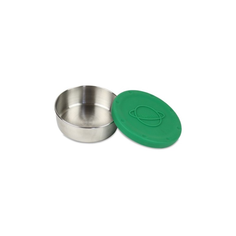 Planetbox Big Round Dipper With Green Silicone Lid
