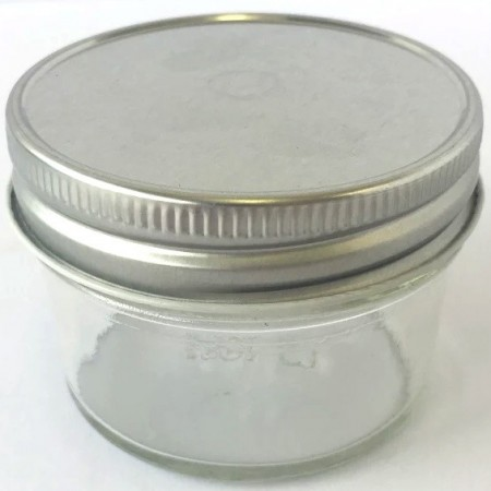Glass Jar with Smooth Silver lid 120ml