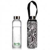 BBBYO 570ml Glass Bottle with Cover - Koru