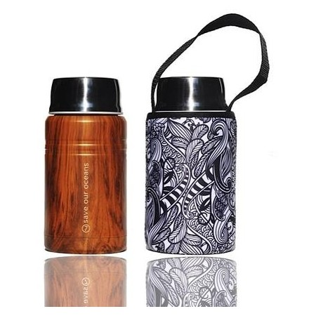 BBBYO 750ml Stainless Steel Foodie + Cover - Koru