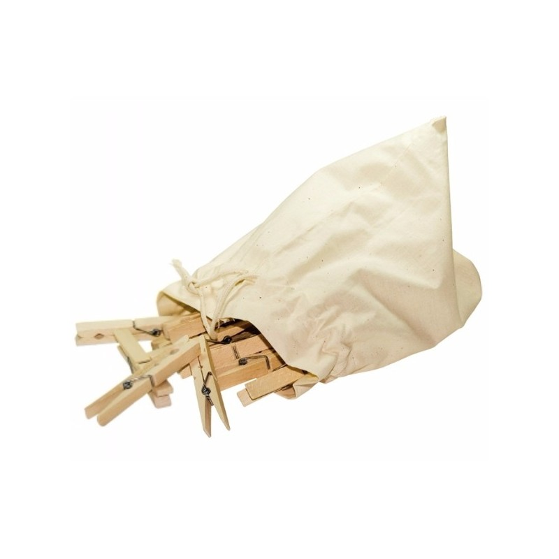 Redecker Clothes Pegs in Cotton Bag