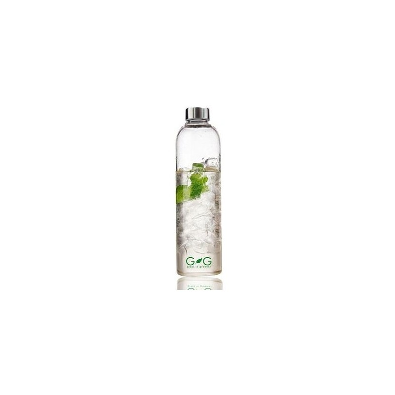 bbbyo 750ml glass water bottle biome