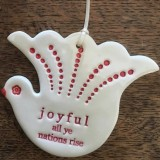 Kylie Johnson Ceramic Christmas Bird - Joyful