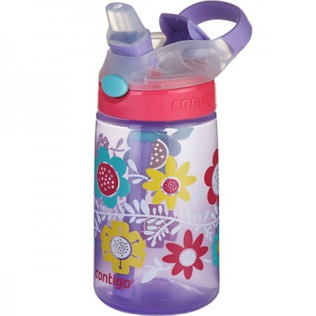 Contigo Kids 415ml Gizmo Plastic Water Bottle - Flowers