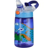 Contigo Kids 415ml Gizmo Plastic Water Bottle - Blue Dinosaur