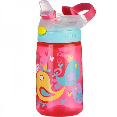 Contigo Kids 415ml Gizmo Plastic Water Bottle - Birds