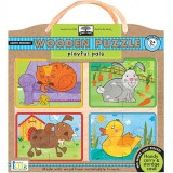 Green Start Wooden Puzzle - Playful Pals