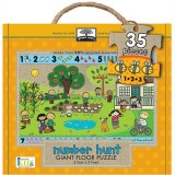 Green Start Giant Floor Puzzle - Number Hunt