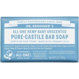 Dr. Bronner's Pure-Castile Bar Soap 140g - Baby Unscented