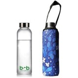 BBBYO 570ml Glass Bottle + Cover - Bloom