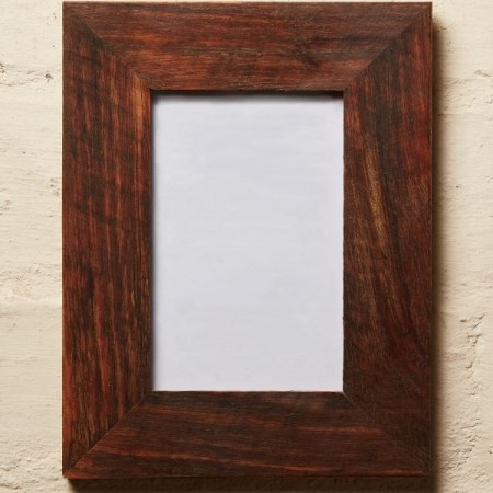 """Mulbury Rescued Timber Picture Frame 7""""x5"""" - Oiled"""