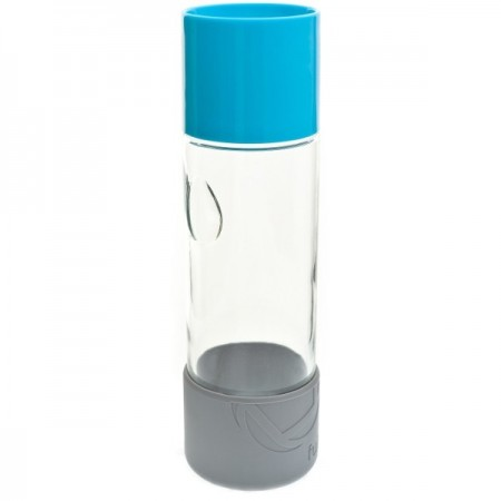 580ml Day Tripper glass water bottle - blueberry by Full Circle