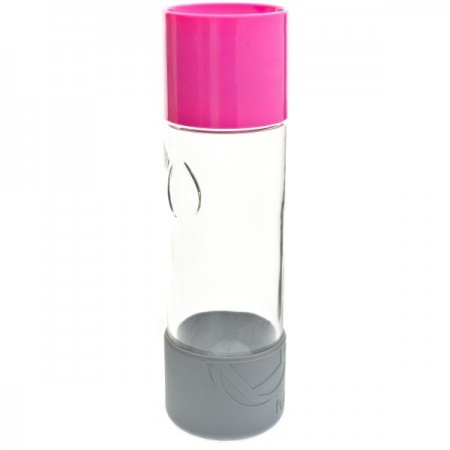 580ml Day Tripper glass water bottle - raspberry by Full Circle