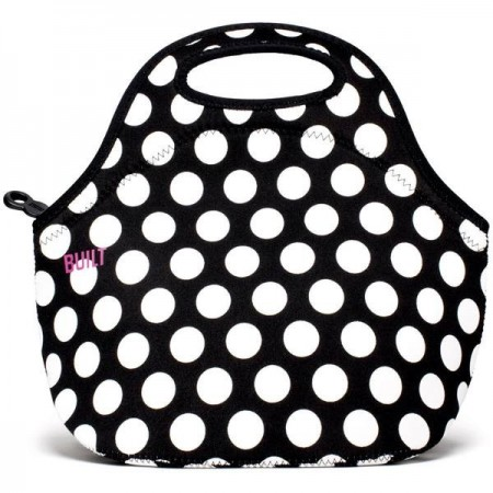 Built NY Gourmet Getaway Lunch Tote - Black & White Dot