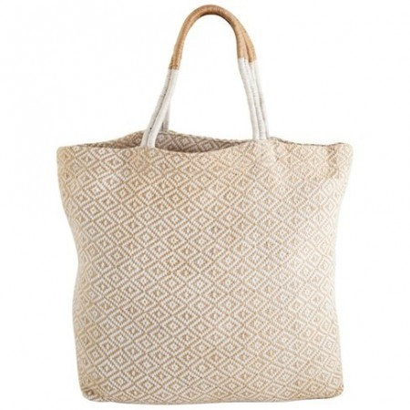 The Dharma Door Jute Shopper - White Diamond