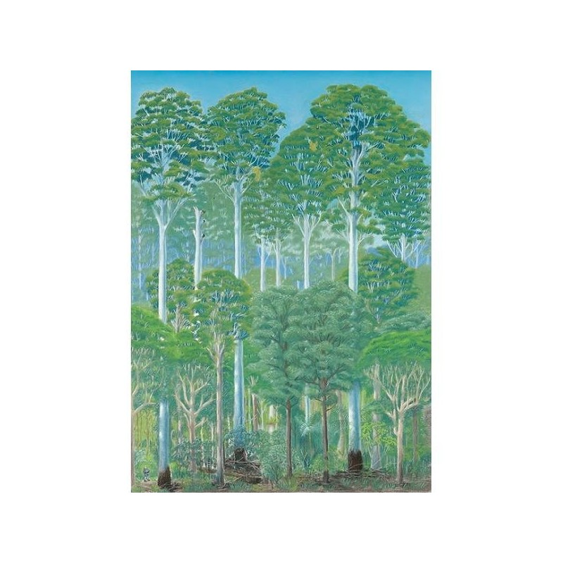 Paula peeters greeting card flooded gum biome this greeting card is illustrated by brisbane artist paula peeters of paperbark writer and features a flooded gum forest the tallest forest type in m4hsunfo