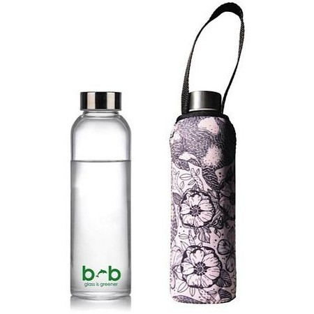 BBBYO 570ml Glass Water Bottle + Cover - Bounce