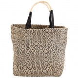 Dharma Door Jute Shopper -  Black Diamond