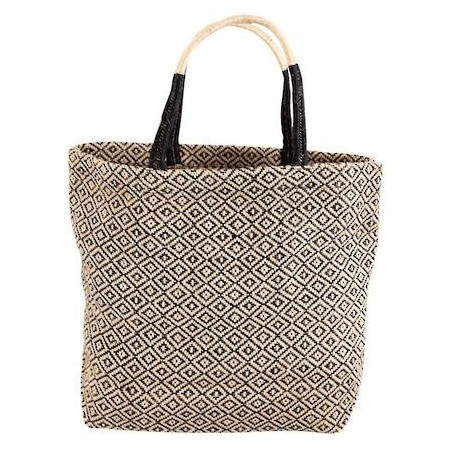 The Dharma Door Jute Shopper - Black Diamond