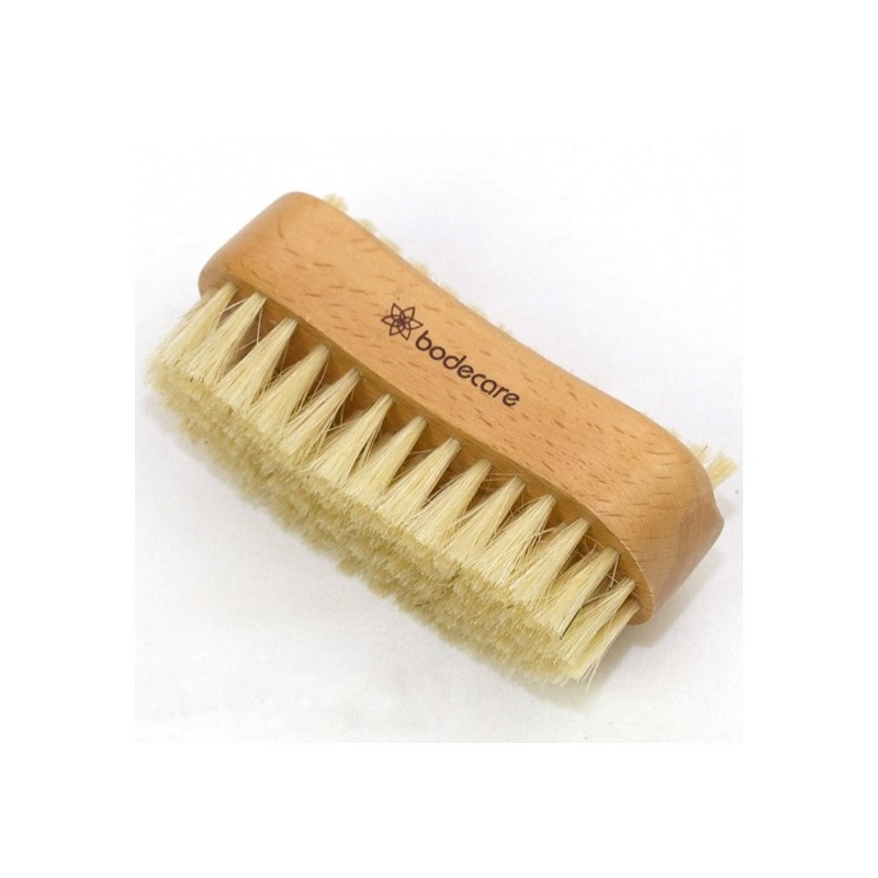 Bodecare Nail Bean Brush Double Sided Tampico Bristle
