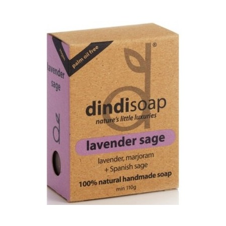 Dindi lavender sage palm oil free natural soap 110g