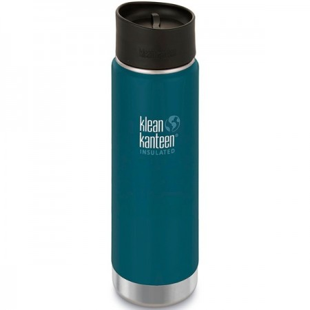 Klean Kanteen Wide Insulated Bottle 20oz 590ml - Neptune Blue Cafe Cap