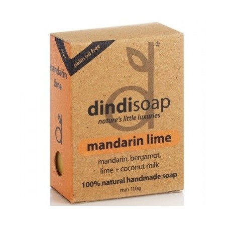 Dindi mandarin lime palm oil free natural soap 110g