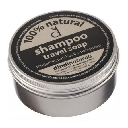 Dindi natural shampoo soap in a tin - tangerine + patchouli