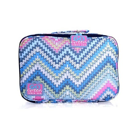 Go Green lunch box Zig Zag Pink Box