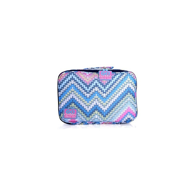 Go Green Lunch Box Set - Zig Zag Pink Box
