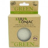 KUU Konjac sponge - french green clay for normal-oily skin